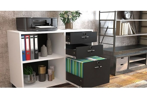 wood file cabinet for home