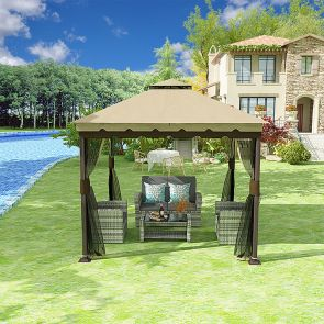 outdoor gazebo 10x10 and outdoor sofa
