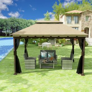 patio canopy gazebo and outdoor sofa set