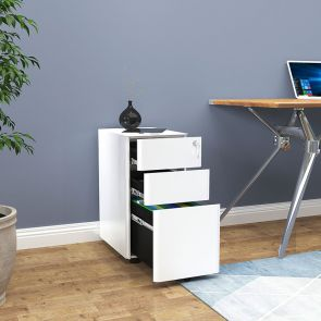 3 drawer file cabinet in office
