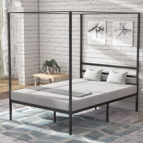 canopy bed frame in the bedroom