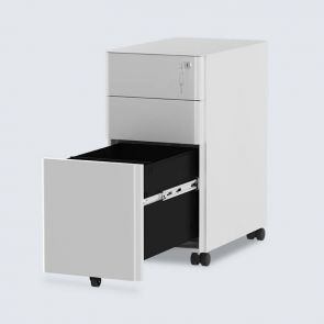 3 drawer slim portable file cabinet