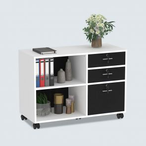 new design 3 drawer wooden filing cabinets