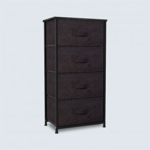 black 4 drawer storage
