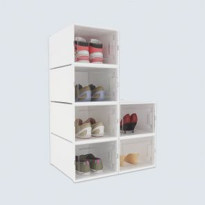 Medium Size 6 Pcs Shoe Storage Box White