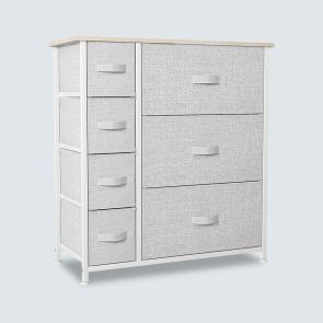 7 drawer storage tower light gray