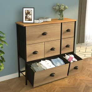 7 drawer storage tower in the living room