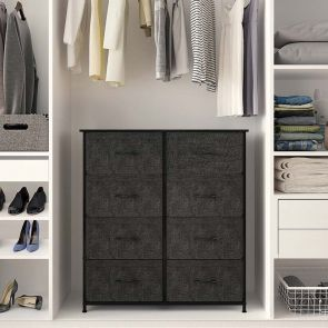 8 drawer organizer in the cabinet