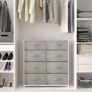 8 drawer storage chest in the cabinet