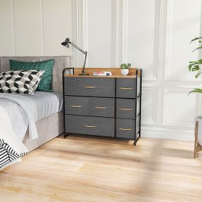 7 drawer chest in the bedroom