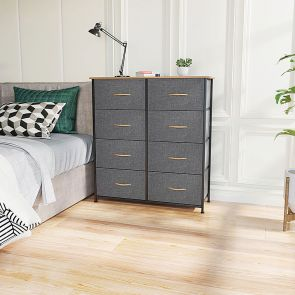8 drawer storage tower in the bedroom