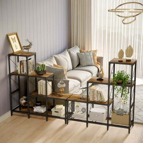 YITAHOME® 5 Cubes Stepped Etagere Large Bookcase