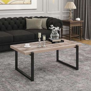 rectangle coffee table in the living room