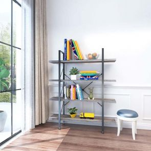 4 shelf bookcase in the room
