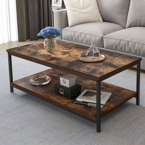 industrial coffee table in the living room