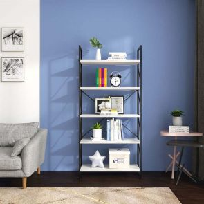 good and white bookcase