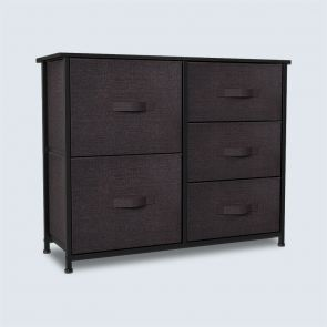 5 drawer chest brown