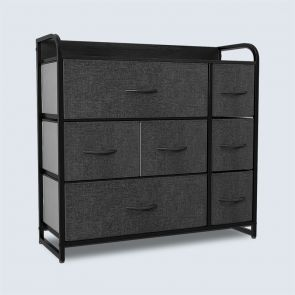 7 drawer storage tower black