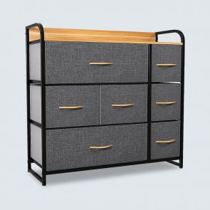 7 drawer chest cool gray