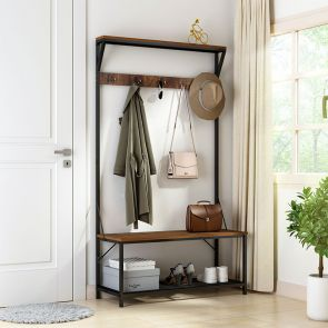 coat and shoe rack in the home