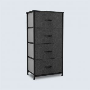 dark gray 4 drawer storage