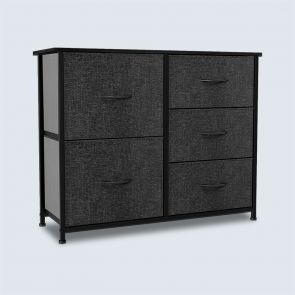 black 5 drawer dresser
