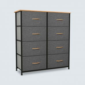 8 drawer storage tower cool gray