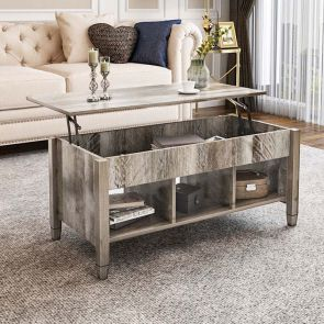 lift top coffee table in the living room