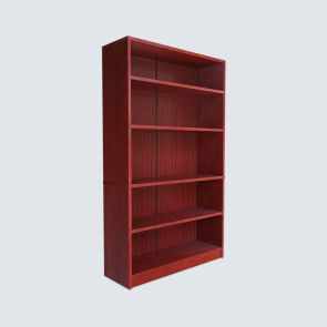 5 Shelf Cherry Bookcase with Closed Back