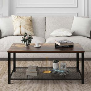 rustic wooden coffee table for living room