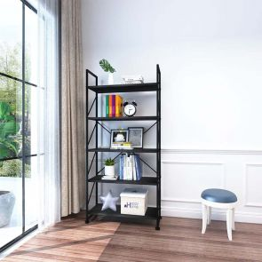 wood bookcase in the living room