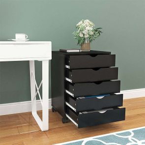 vertical file cabinet in the room