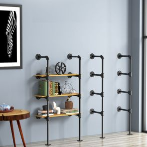 4 shelf bookcase stores many things