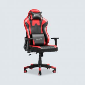 Massage Gaming Computer Chairs with Adjustable Recliner Red and Black