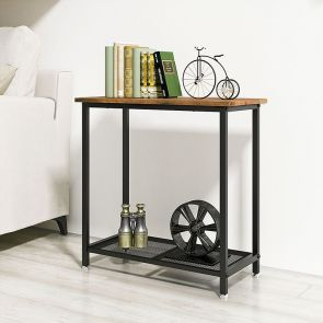 modern side table in the bedroom