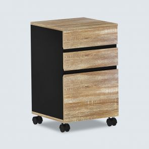 new type three drawer file cabinet wood
