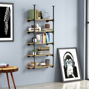 5 shelf bookcase stores many things