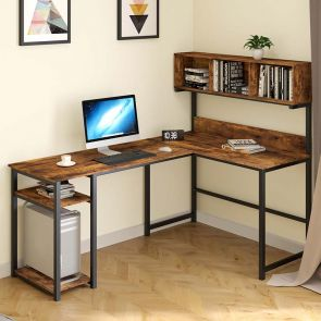 l shaped office desk in the office