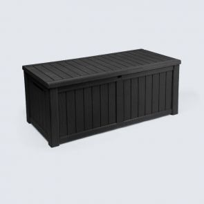 outdoor black large resin deck box