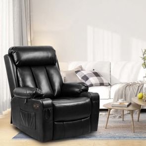 leather recliner chair in the living room