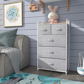 5 drawer storage in the bedroom