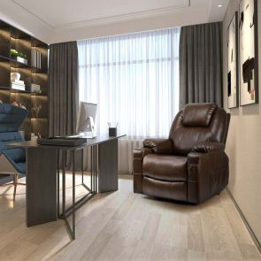 leather recliner chair in office