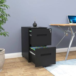 drawer metal filing cabinet in office