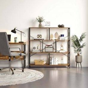 YITAHOME® Industrial Cube Open Bookcase Rustic Brown
