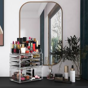 3 pcs cosmetic storage box in the bedroom