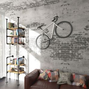 3 shelf bookcase hanging on the wall