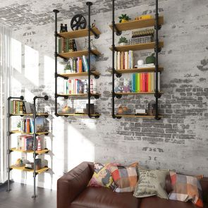 wall bookcase hanging on the wall