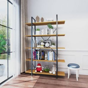 new design walnut bookcase