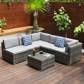 outdoor sectional furniture in the balcony