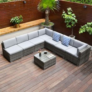 patio conversation sets in the balcony